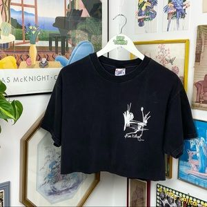 Vintage Fire Island Cropped T-Shirt